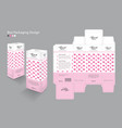 box packaging template for cosmetic 3d box vector image vector image