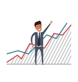 Businessman with financial growth Flat vector image