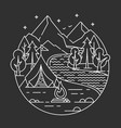 camping in a forest vector image vector image