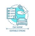 car rental concept icon automobile rent leasing vector image vector image