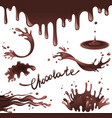 chocolate splashes vector image vector image