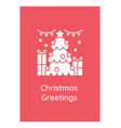 christmas congratulations greeting card vector image