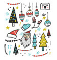 christmas toys design vector image