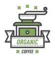 Coffee monogram logo badge vector image vector image
