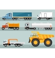 Collection of Trucks Flat Style vector image
