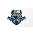 colorful logo badge emblem of military fighter vector image vector image