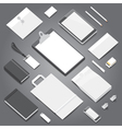 Corporate identity stationery objects mock-up vector image vector image