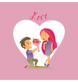 Couple in love 21 vector image vector image