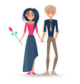 couple in love boy and girl vector image