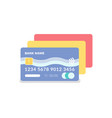 credit card with number and code plastic item vector image vector image