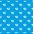 cup pattern seamless blue vector image