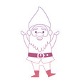 cute gnome character icon vector image vector image
