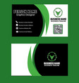 dark and green color business card image vector image vector image