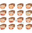 Emotions Cartoon facial expressions set vector image vector image