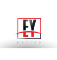 ey e y logo letters with red and black colors and vector image vector image