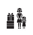 family gifts black concept icon family vector image vector image