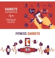 Fitness Monitoring Banners vector image
