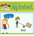 Flashcard letter L is for lever vector image vector image