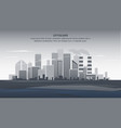 flat banner gray panorama cityscape vector image vector image