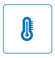 forecast weather Thermometer icon vector image vector image