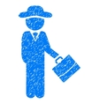 Gentleman Manager Grainy Texture Icon vector image vector image