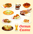 german cuisine icon for oktoberfest menu design vector image vector image