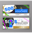 gift voucher template universal flyer for vector image vector image