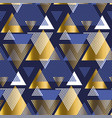 gold and blue elegant geometric repeatable motif vector image vector image