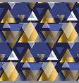 gold and blue elegant geometric repeatable motif vector image