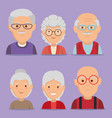 group of grandparents characters vector image vector image