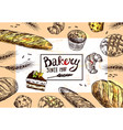 hand drawn bakery vector image vector image