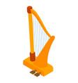 Harp icon isometric style