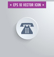 home phone symbol icon on gray shaded background vector image vector image