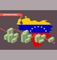hyperinflation in venezuela concept vector image vector image