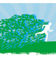 Jogging - Abstract silhouettes card vector image vector image