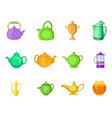 kettle icon set cartoon style vector image vector image