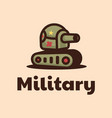 logo military simple mascot style vector image