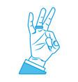 ok hand symbol vector image vector image