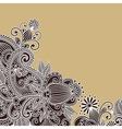 Ornate flower background vector image