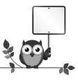 OWL SIGN vector image vector image