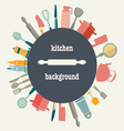 Pattern of Kitchen utensil vector image vector image
