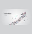 people crowd gathering in shape financial arrow vector image vector image