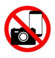 phone forbidden sign photography prohibited photo vector image