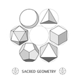 Plato classic geometry forms vector image vector image