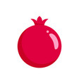 pomegranate icon flat style vector image vector image
