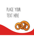 red template with pretzels vector image vector image