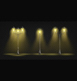 retro street lights lantern realistic set vector image