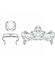 Royal Sofa and Armchair set vector image vector image