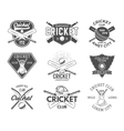Set of cricket sports logo designs Cricket icons vector image vector image