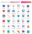 set of trendy flat gradient online vector image
